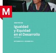 II Edición Máster Igualdad y Equidad en el Desarrollo