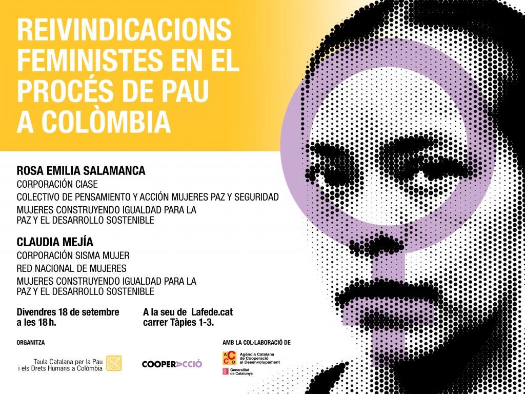 Reivindicacions feministes en el procés de pau a Colòmbia