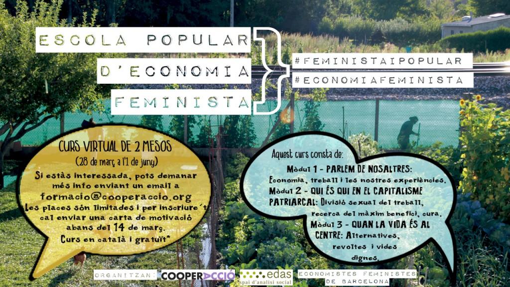 Cartel Escuela Popular de Economía Feminista